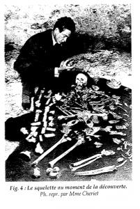 Tinhinan - Le Squelette au moment de ma découverte