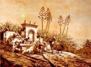 gravure fontaine bouzaréah