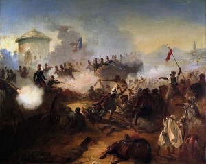 Défense_héroïque_du_capitaine_Lelièvre_à_Mazagran_by_Jean-Adolphe_Beaucé