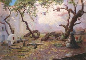 Illustration 3. Gustave Lemaitre- cimetière sidi ben ali casbah, exposé au Salon des artistes français 1906, collection privée